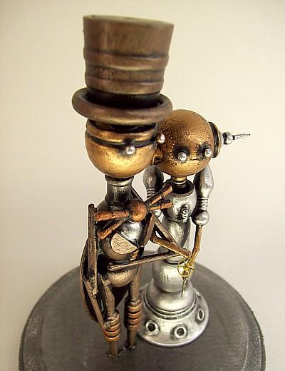 Steampunk Robot Wedding Cake 2 by buildersstudio