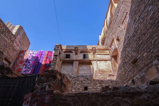 Sun drying in Jaisalmer