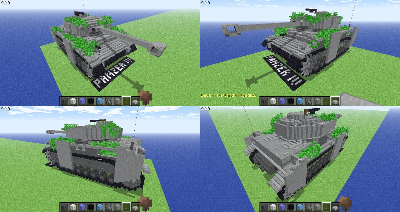 стреляюший танк в майнкрафт пе карта