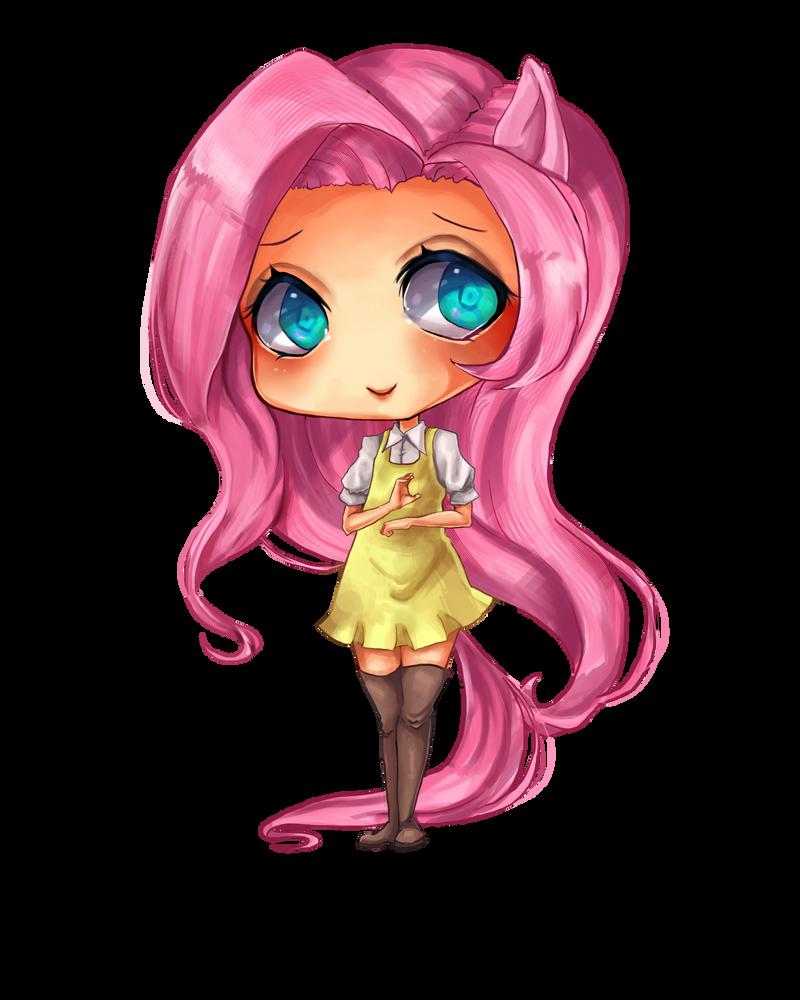 Fluttershy Chibi by Berru-chan on DeviantArt