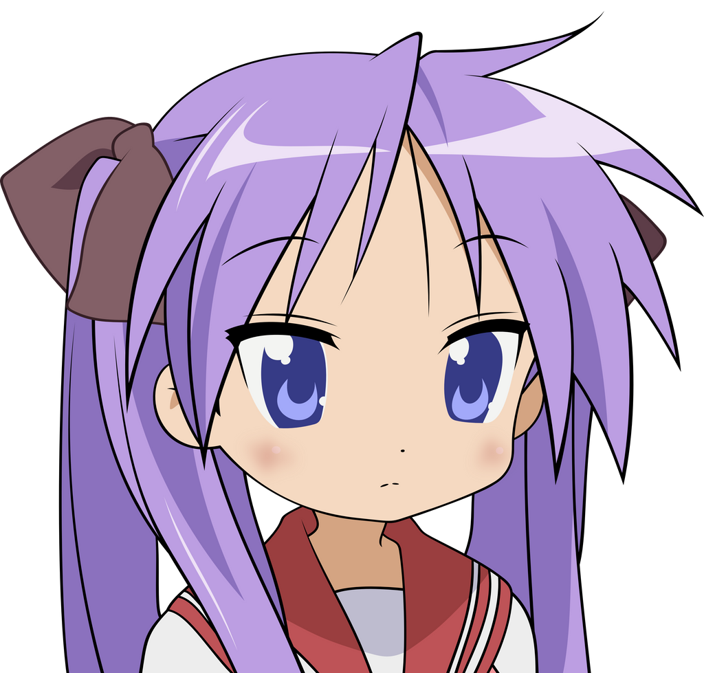 kagami hiiragi vector by darksciencelord on deviantart