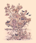 Fig Tree Island by BenGeigerArt