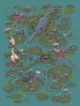 Lily Pad Marsh by BenGeigerArt