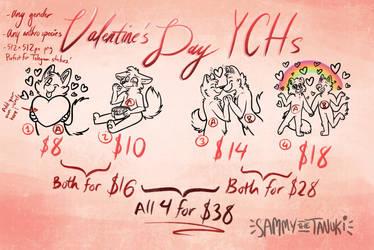 [CLOSED] Valentine's Day YCHs!