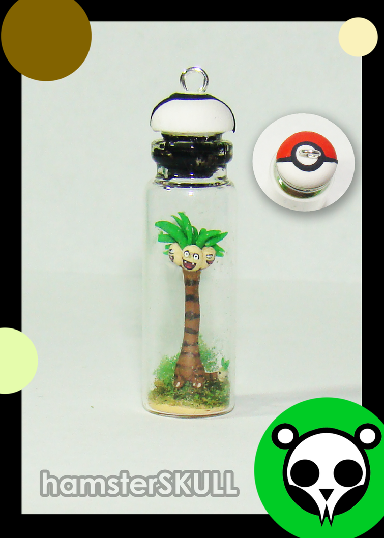 Alolan Exeggutor Miniature Bottle Necklace by hamsterSKULL