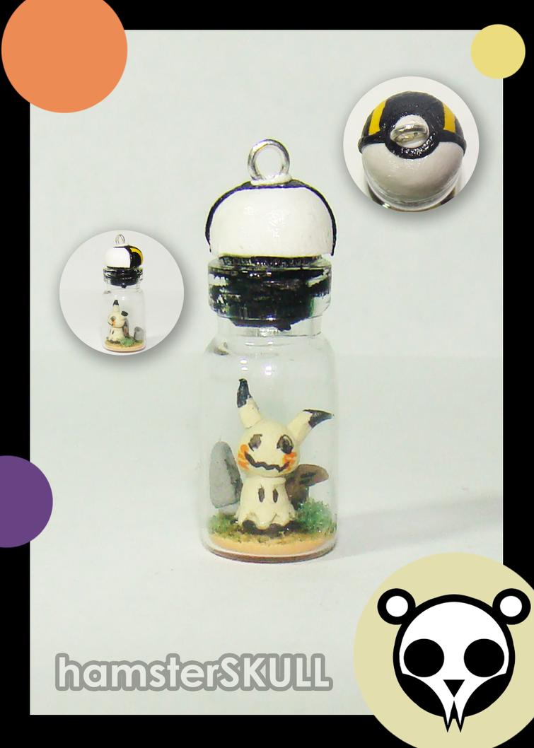 Mimikyu Miniature Bottle Necklace by hamsterSKULL