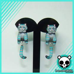 Cheshire Cat Handmade Earrings
