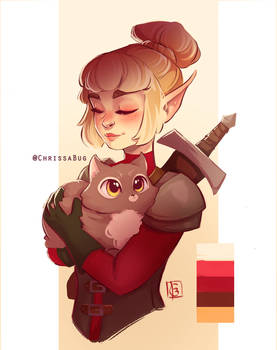 Fighter and Her Cat