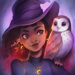 Moon Owl Witch