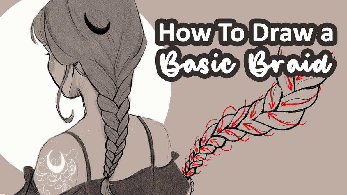 How to draw a Basic Braid thumb