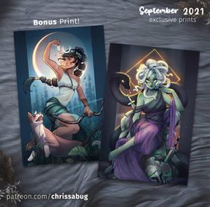 September Exclusive Medusa and Artemis Prints