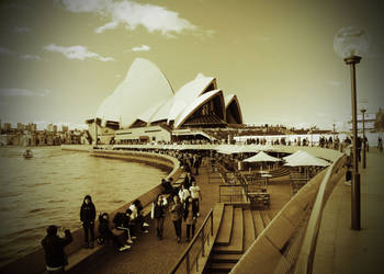 Opera House in Sepia by davox1