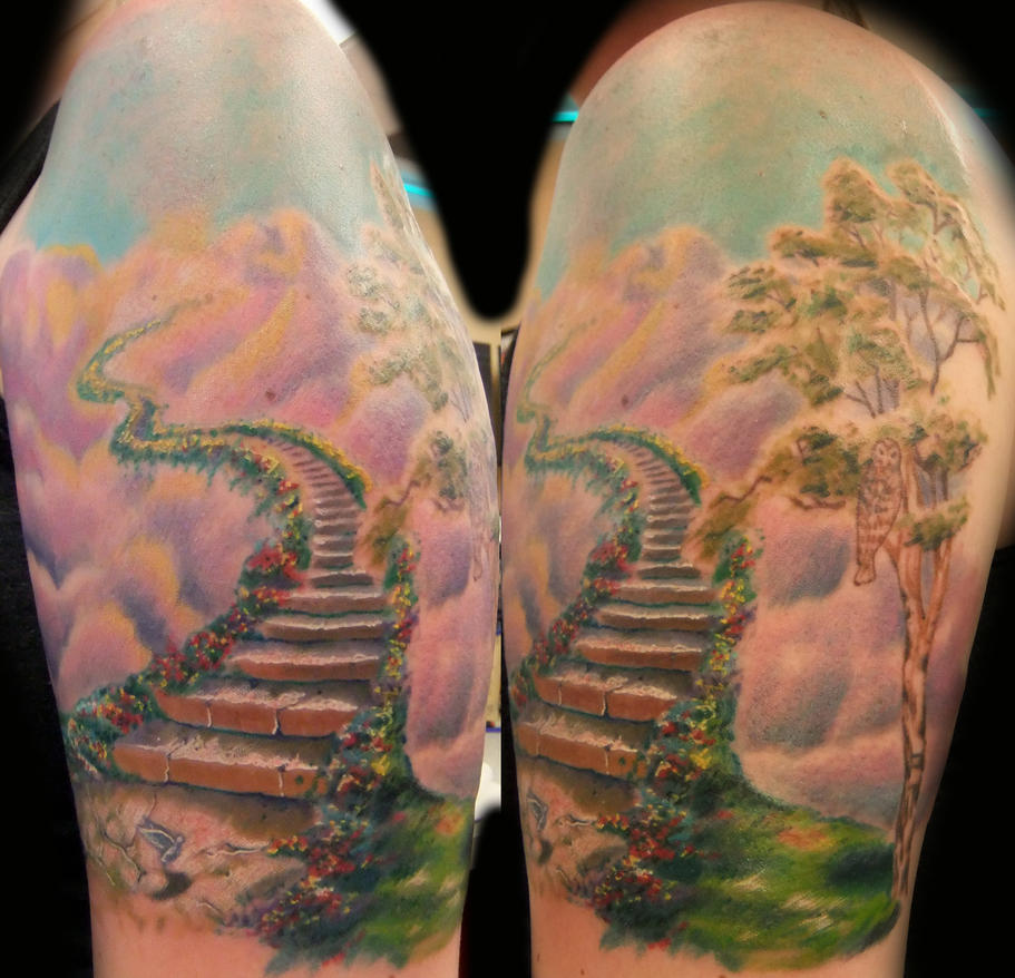 Stairway to heaven by monkeyproink beto on deviantart for Stairway to heaven tattoo