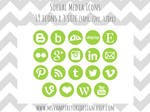 Social Media Icons Set - Green