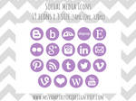 Social Media Icons Set - Purple