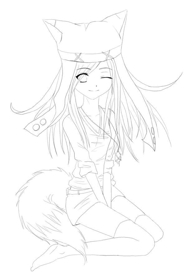 Fan Girl - Lineart by yuna-chicky-yummy on DeviantArt