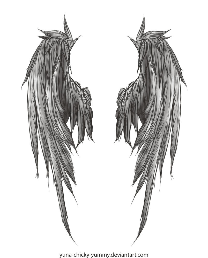 dark wings tattoo by yuna chicky yummy on deviantart