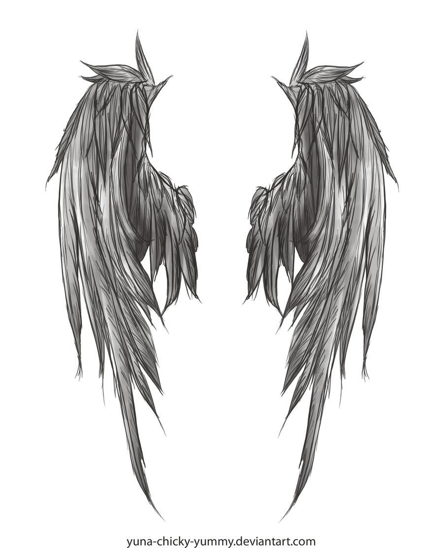 Dark Wings Tattoo by yuna-chicky-yummy on DeviantArt