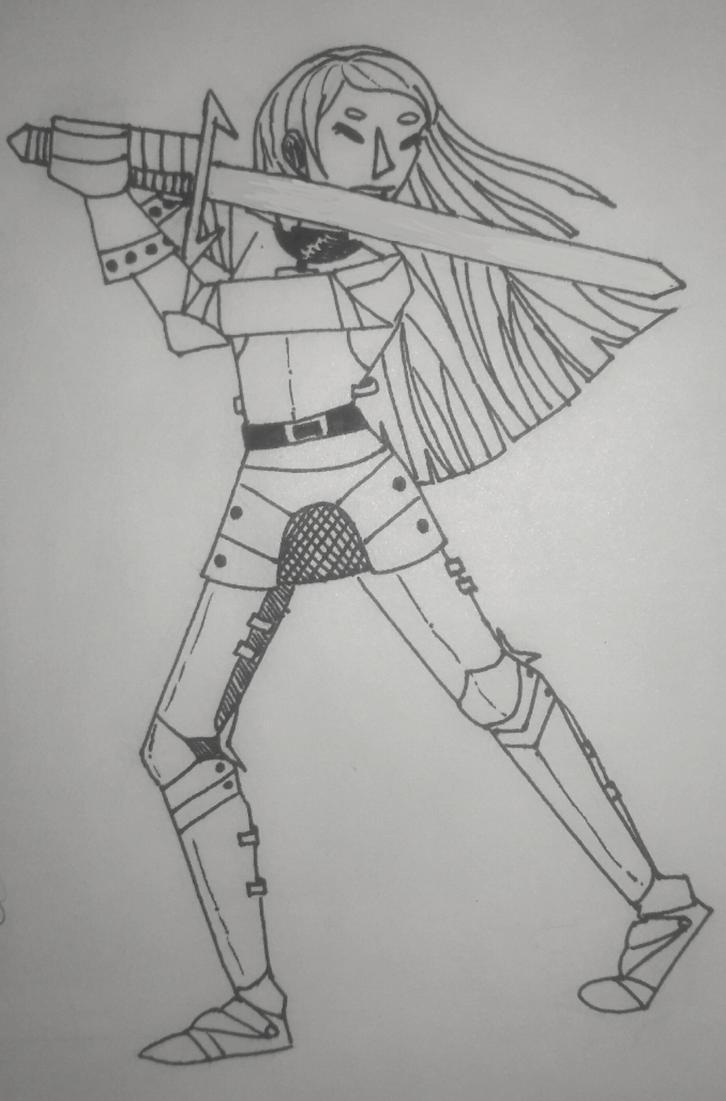 Inktober #6 - Sword by TheSpiciestRamen