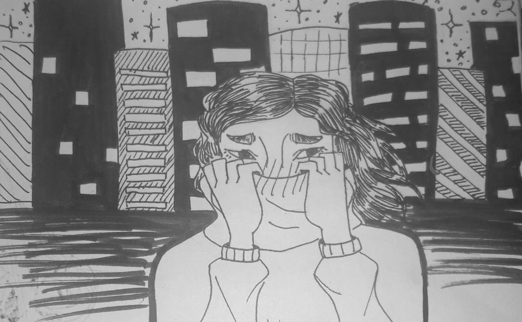 Inktober #7 - Shy by TheSpiciestRamen