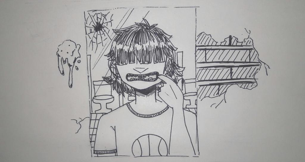 Inktober #8 - Crooked by TheSpiciestRamen
