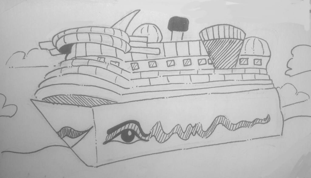 Inktober #25 - Ship by TheSpiciestRamen