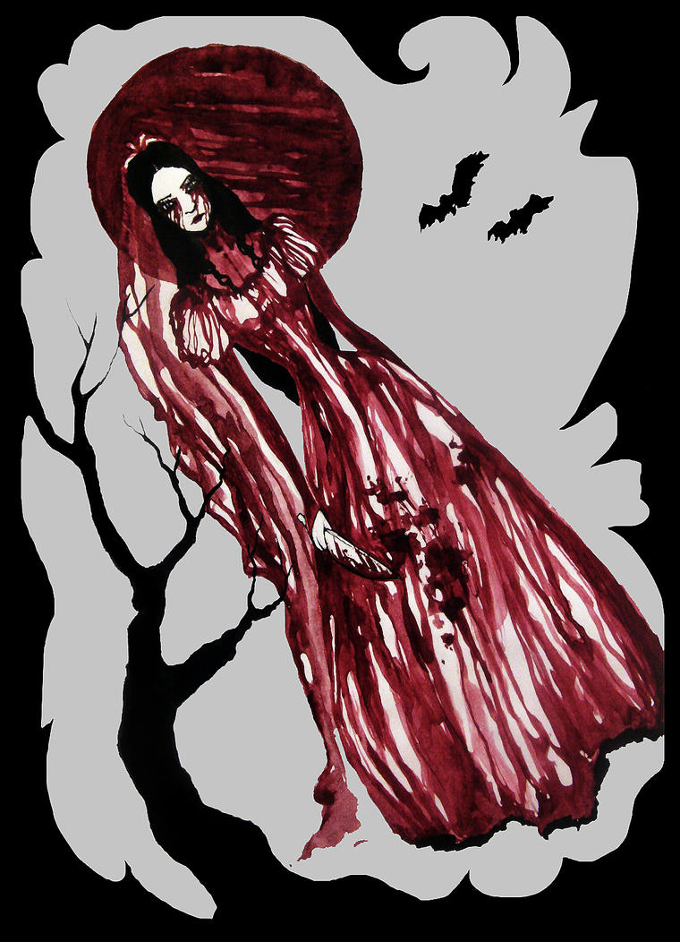 a ghost of the red moon by Alessa-DW