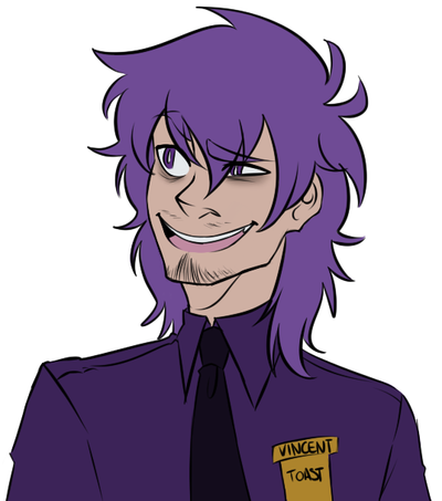 Vincent the purple man by saaiie on deviantart