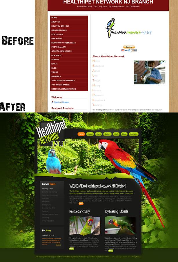 Healthipet Website Redesign by emackodesigns