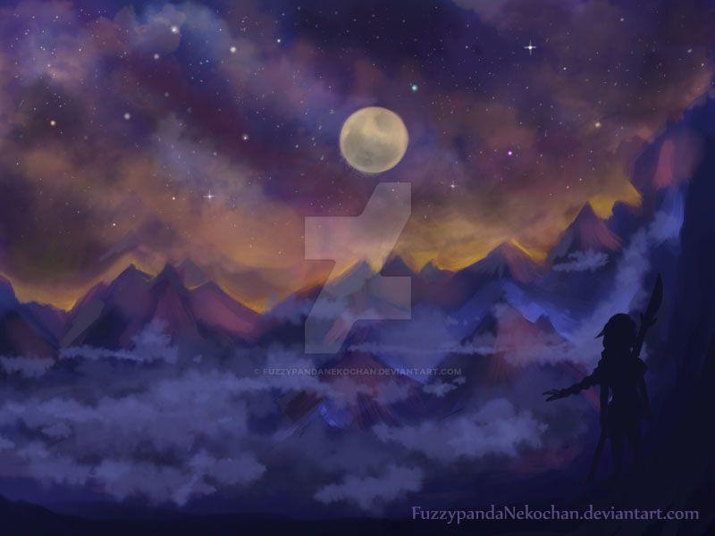 Mountain stars by FuzzypandaNekochan