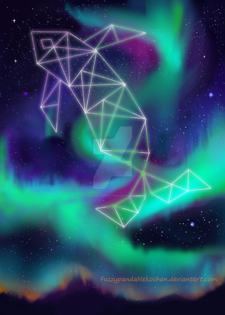 Northern lights by FuzzypandaNekochan