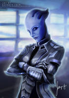 Liara T'Soni - Mass Effect by whatever-kathryn