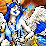 Bleu Pixel Portrait by Eliminate