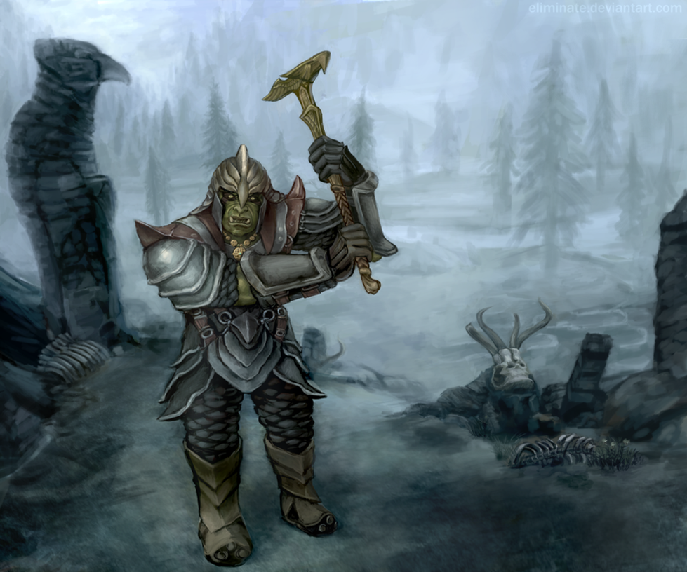 skyrim orc wallpaper - photo #34
