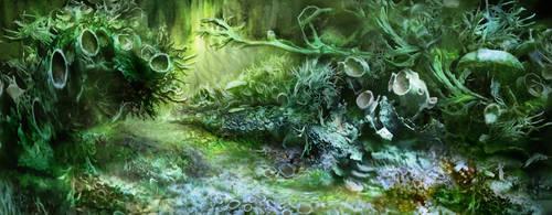 Mutant Lichen Forest by Eliminate