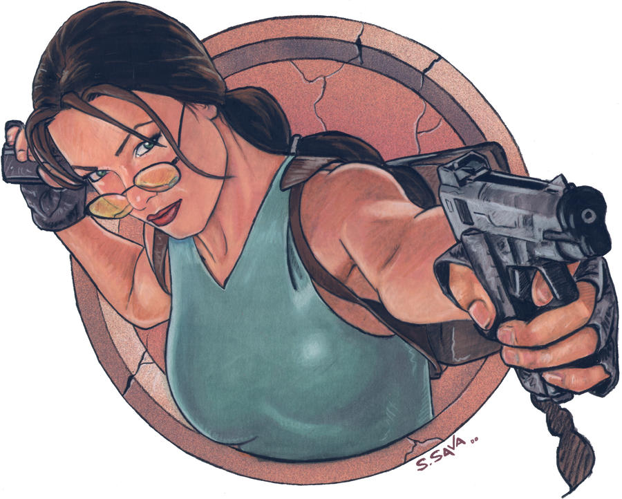 Lara Croft by ssava