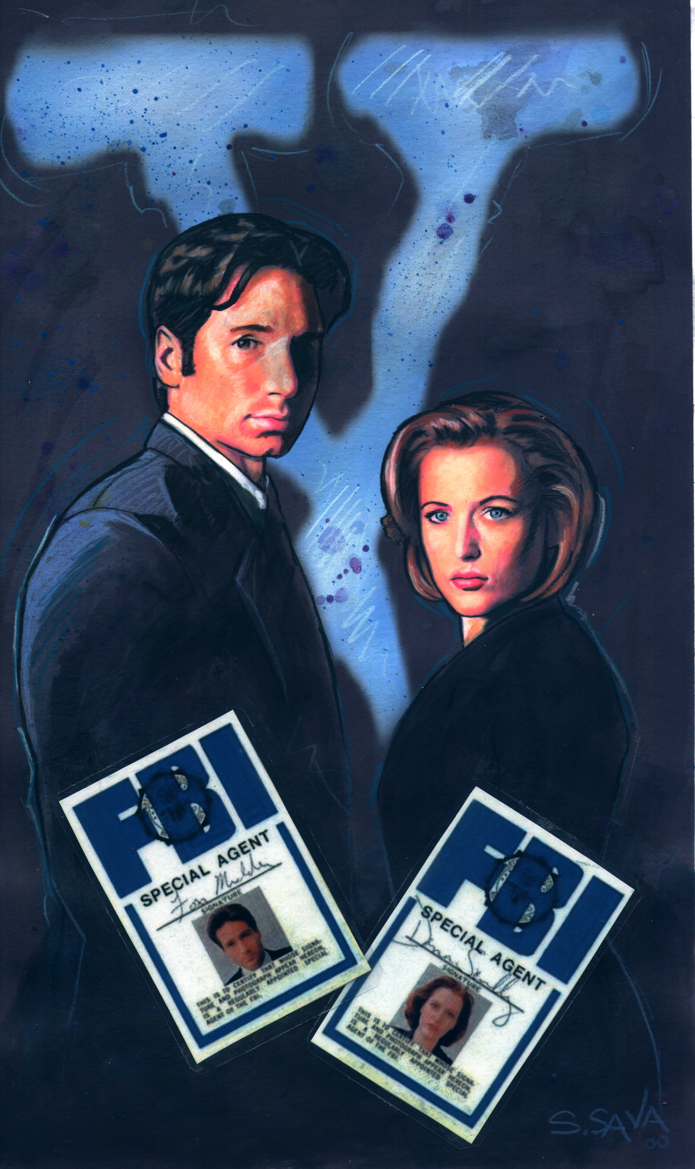 Xfiles with Badge