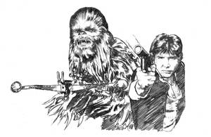 Han and Chewie by ssava
