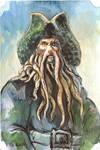 Davy Jones Watercolor Sketch..
