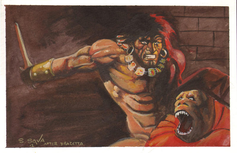 Frazetta Conan Frank frazetta conan by ssava Conan The Destroyer Throne