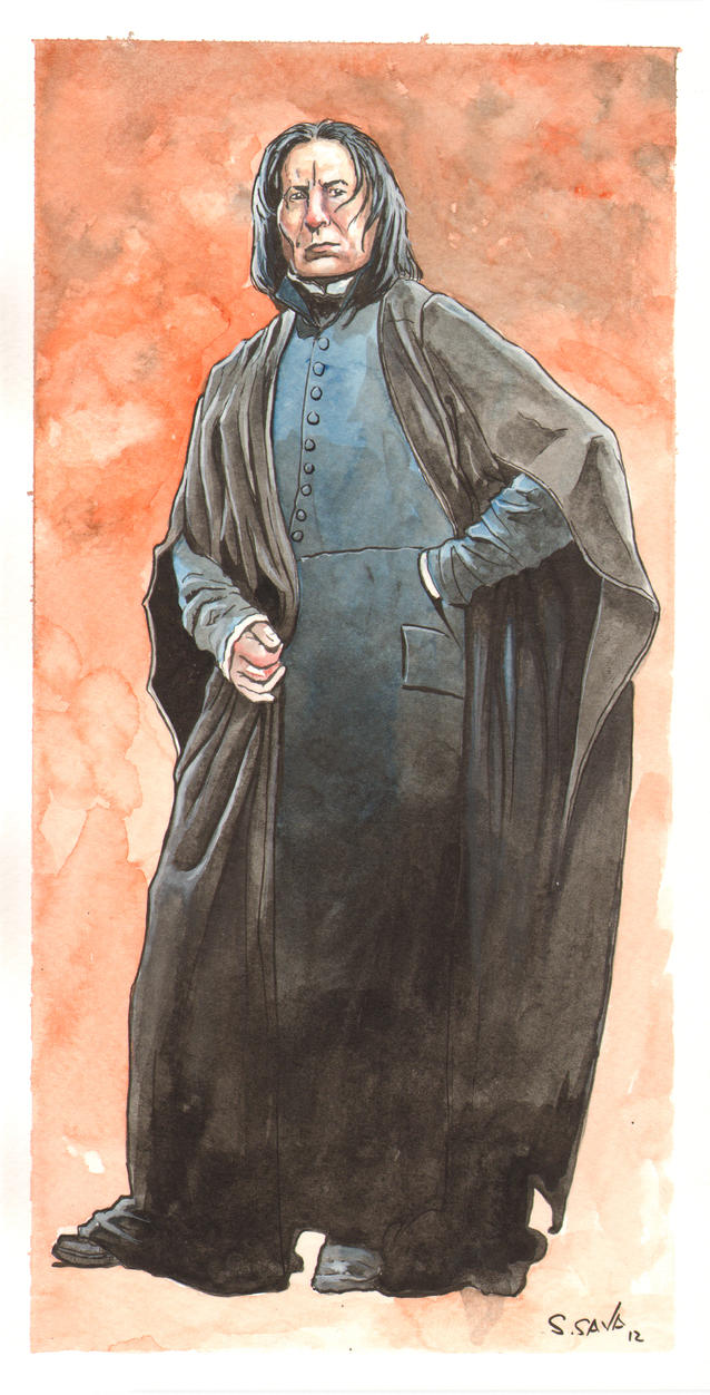 Severus Snape Watercolor... by ssava