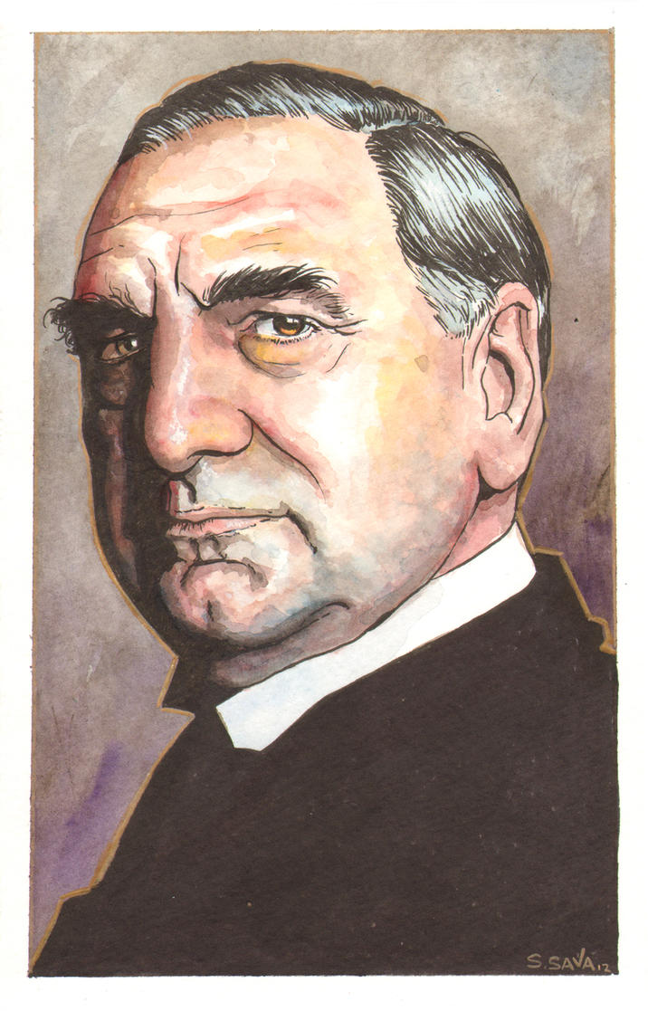 Downton Abbey Carson Watercolor... by ssava