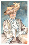 Downton Abbey Countess Grantham Watercolor...