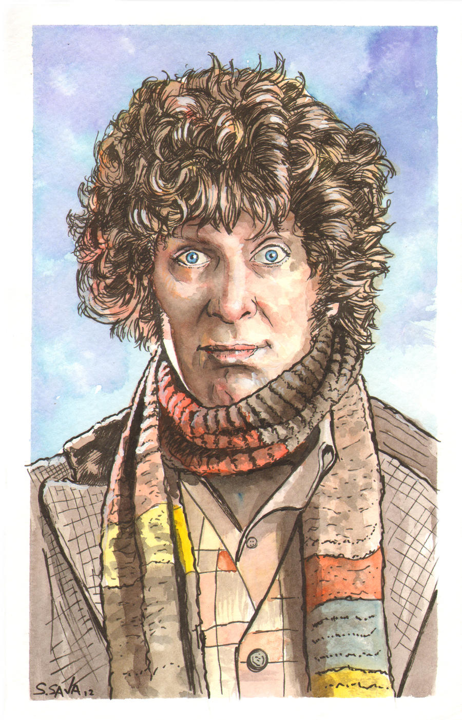 The Fourth Doctor Who Watercolor... by ssava