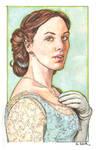 Downton Abbey Lady Sybil watercolor...