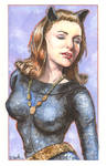 Julie Newmar as Catwoman Watercolor...