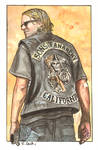 Sons of Anarchy Jax Teller Watercolor...