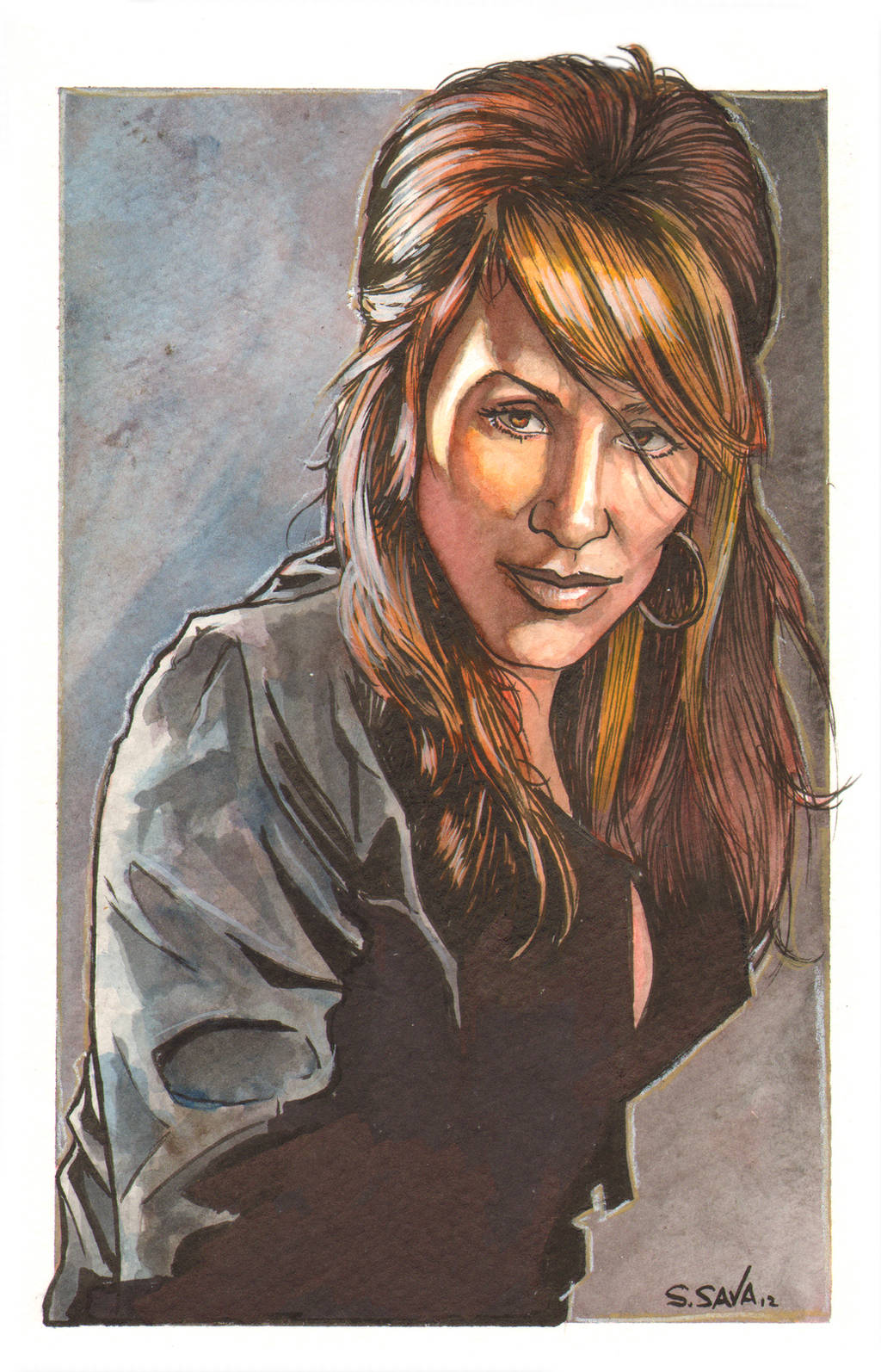 Gemma from Sons of Anarchy Watercolor... by ssava