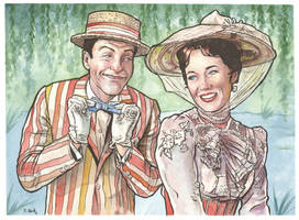 Mary Poppins and Bert... by ssava
