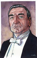 Carson from Downton Abbey Watercolor by ssava